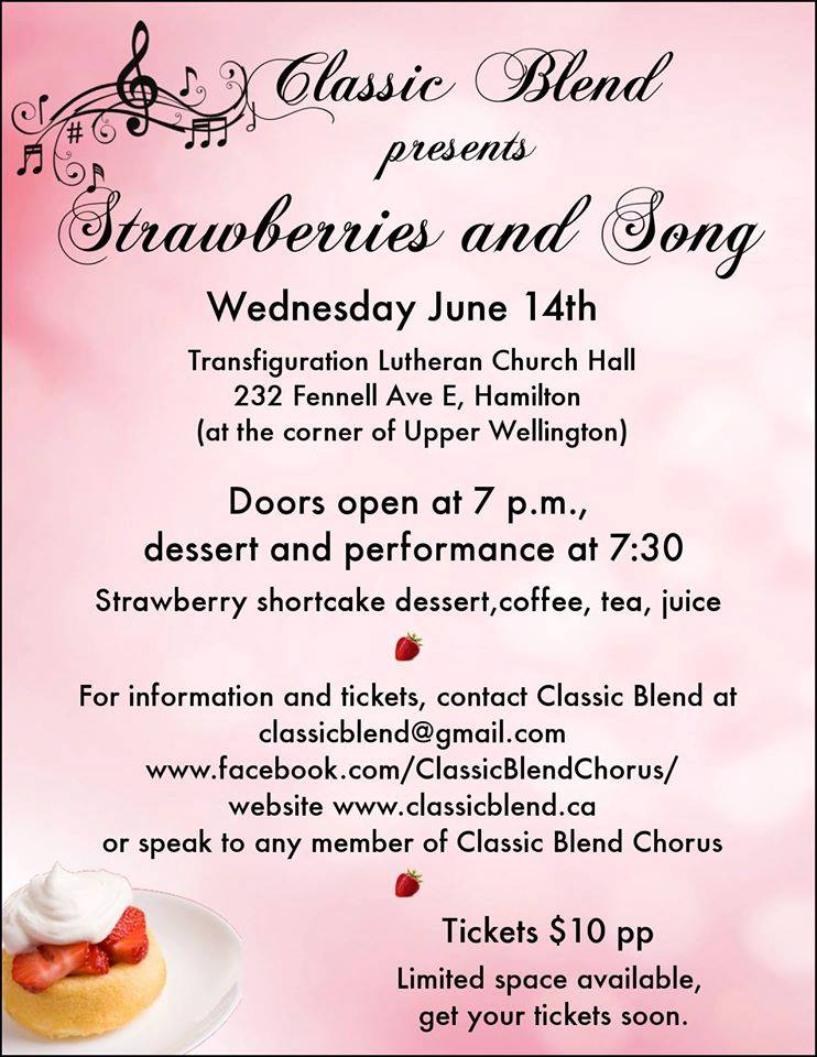 Strawberries and Song Show, 1`4 June 2017 - SOLD OUT!!!